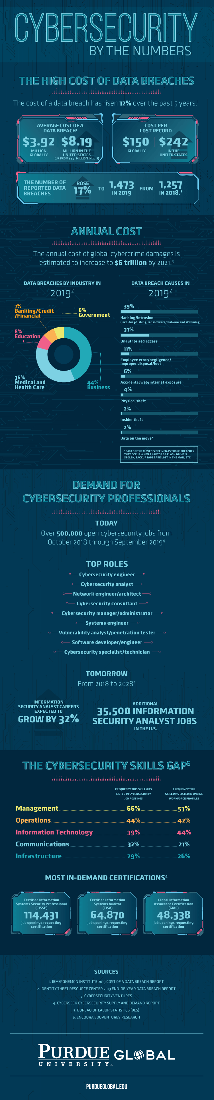 Cybersecurity by the Numbers Infographic