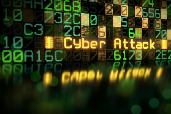 Computer code and the words Cyber Attack