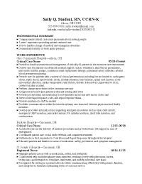 Nursing Cv Examples from www.purdueglobal.edu