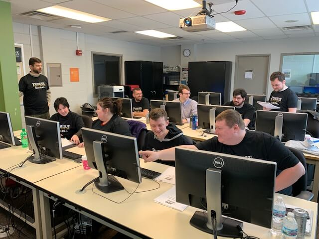 Purdue Global students at a cybersecurity competition