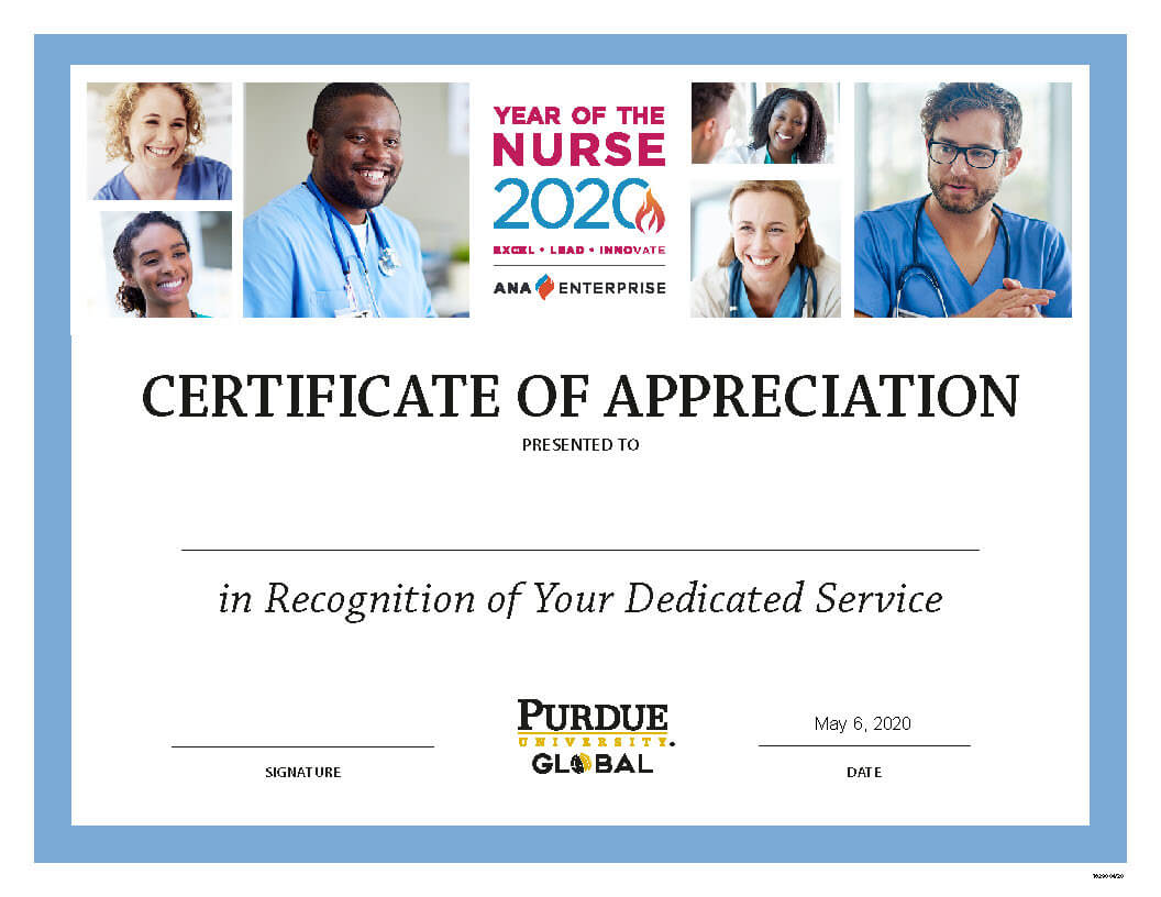 Nurses Week Certificate