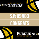 Printable Purdue Global Graduation Cake Toppers